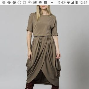 Dress, greyblue, midi,